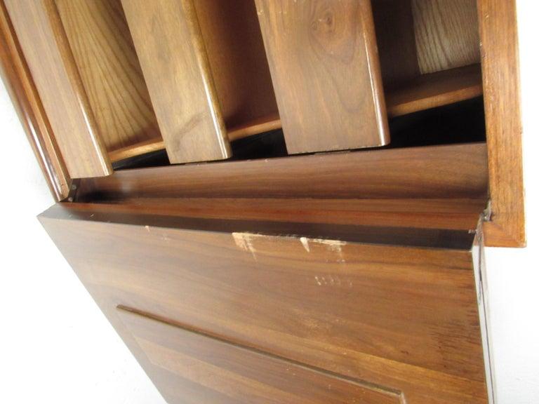 Midcentury American Walnut Dresser With Matching