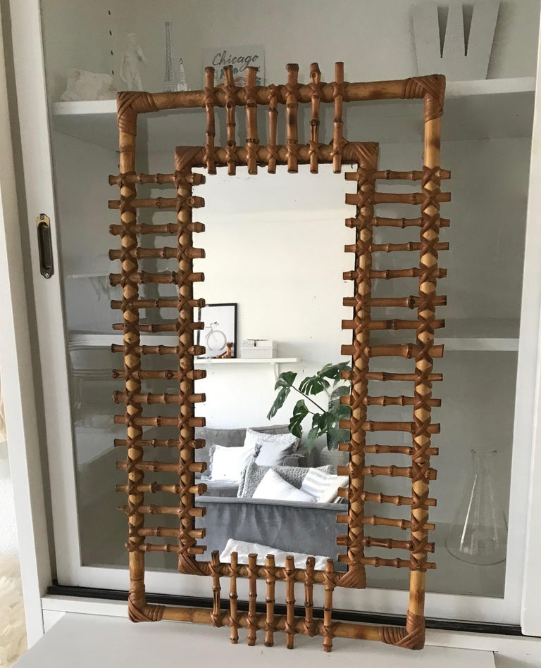 Rare and organically beautiful wall mirror.  This rare and all-handcrafted mirror is another one of our wonderful recent finds. We rate it for many reasons: 1. because we cannot find another one anywhere on the worldwide web. 2 because it is