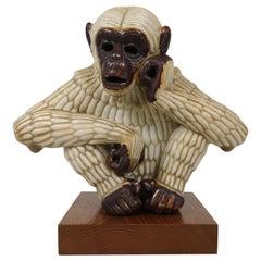 Midcentury Ape Sculpture Rörstrand Gunnar Nylund, Sweden