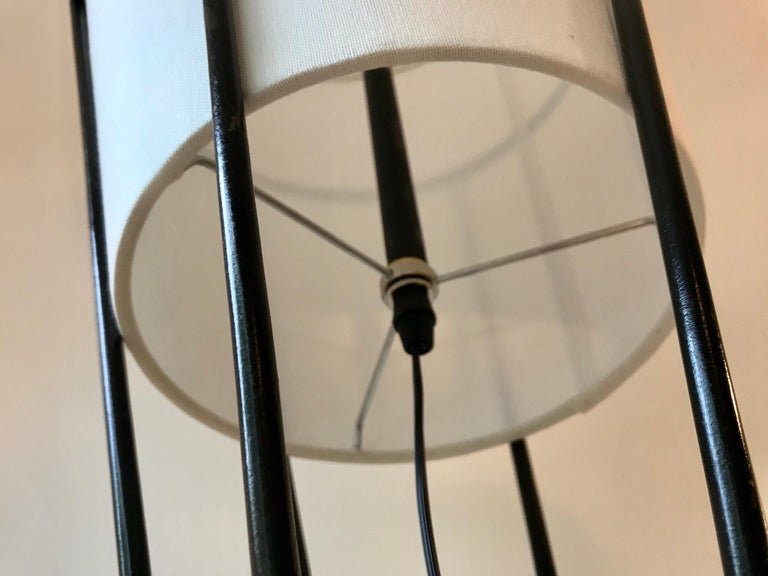 Architectural Iron Lamp, Midcentury In Good Condition For Sale In Los Angeles, CA