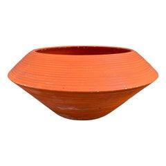 Midcentury Architectural Pottery UFO Ceramic Planter by Zanesville Stoneage