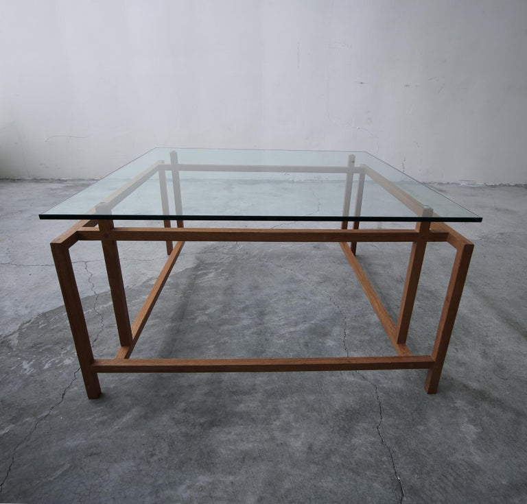 Mid-Century Modern Midcentury Architectural Teak Danish Coffee Table by Henning Norgaard For Sale