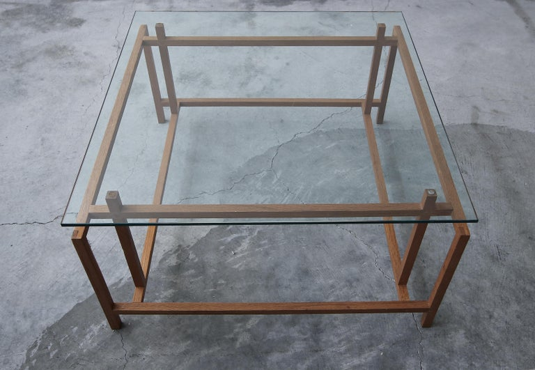 Midcentury Architectural Teak Danish Coffee Table by Henning Norgaard In Good Condition For Sale In Las Vegas, NV