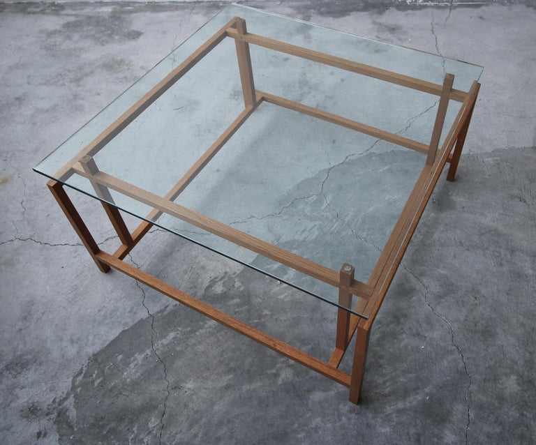 20th Century Midcentury Architectural Teak Danish Coffee Table by Henning Norgaard For Sale