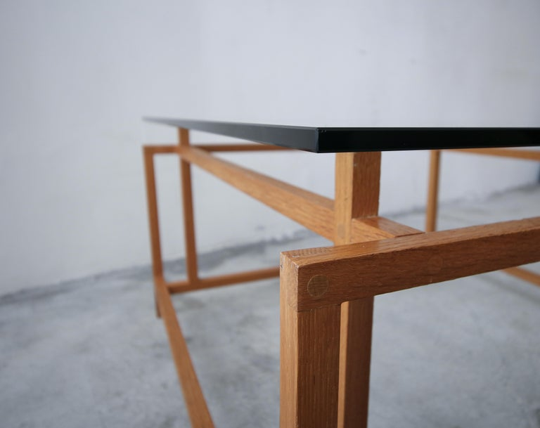 Midcentury Architectural Teak Danish Coffee Table by Henning Norgaard For Sale 2