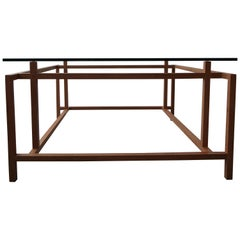 Midcentury Architectural Teak Danish Coffee Table by Henning Norgaard