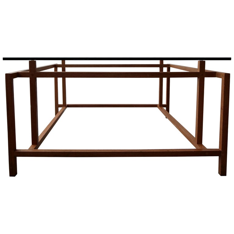 Midcentury Architectural Teak Danish Coffee Table by Henning Norgaard For Sale