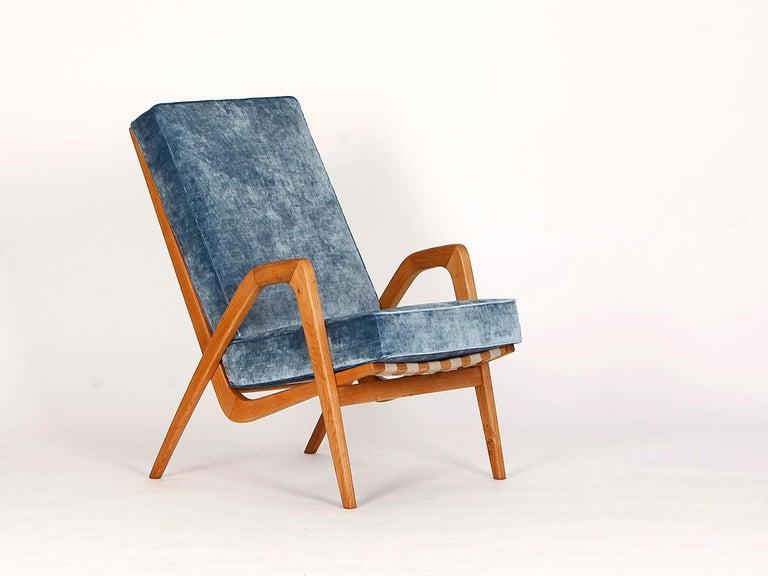 Mid-Century Modern Midcentury Armchair from Krasna Jizba, 1950s For Sale
