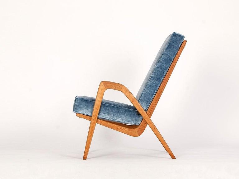 Czech Midcentury Armchair from Krasna Jizba, 1950s For Sale