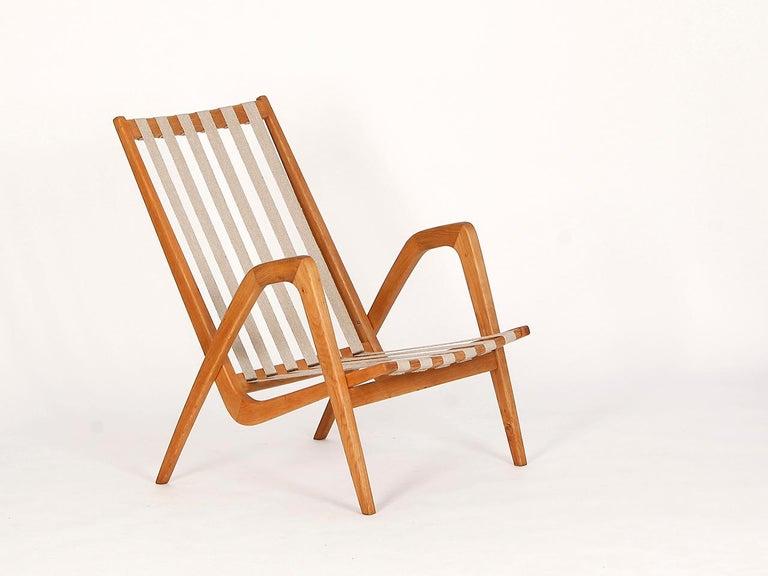 Velvet Midcentury Armchair from Krasna Jizba, 1950s For Sale