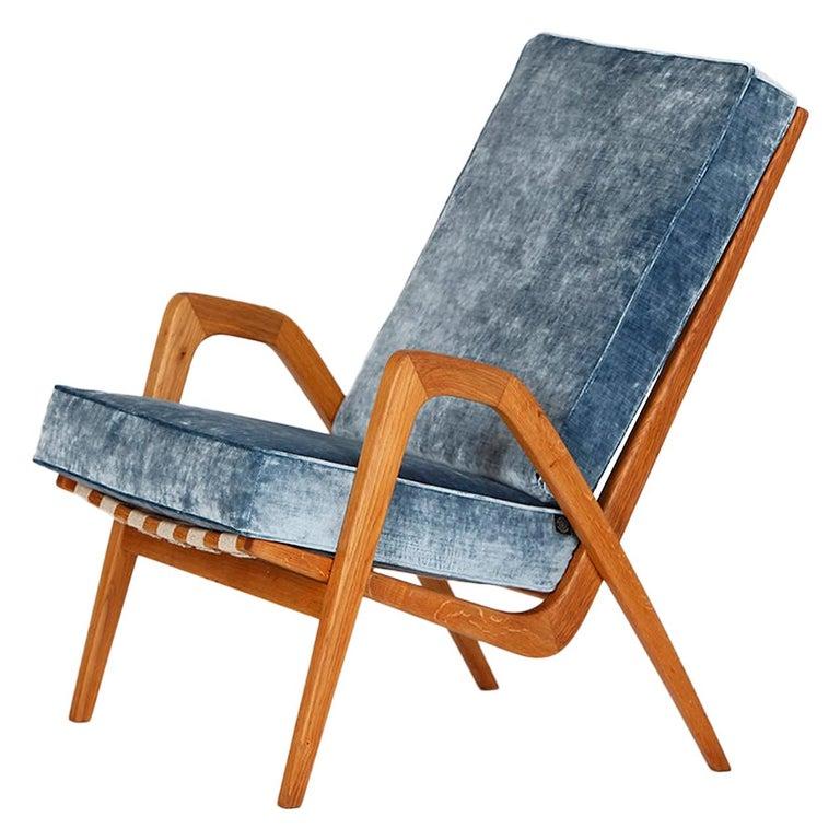 Midcentury Armchair from Krasna Jizba, 1950s For Sale