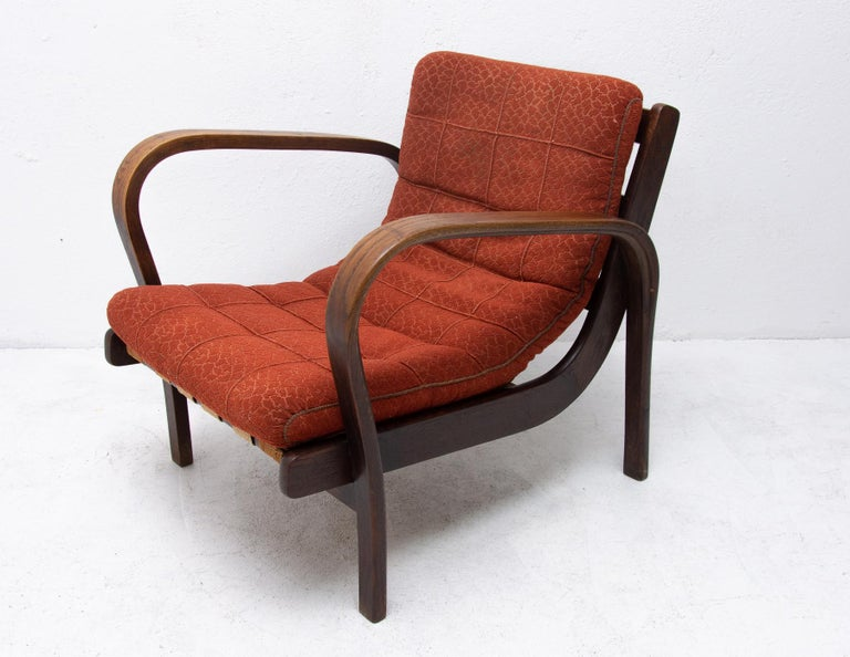 Midcentury Armchairs by Kropacek and Kozelka for Interier Praha 1944, Set of Two For Sale 4
