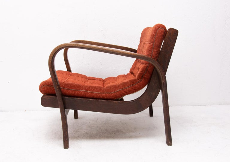 Midcentury Armchairs by Kropacek and Kozelka for Interier Praha 1944, Set of Two For Sale 5