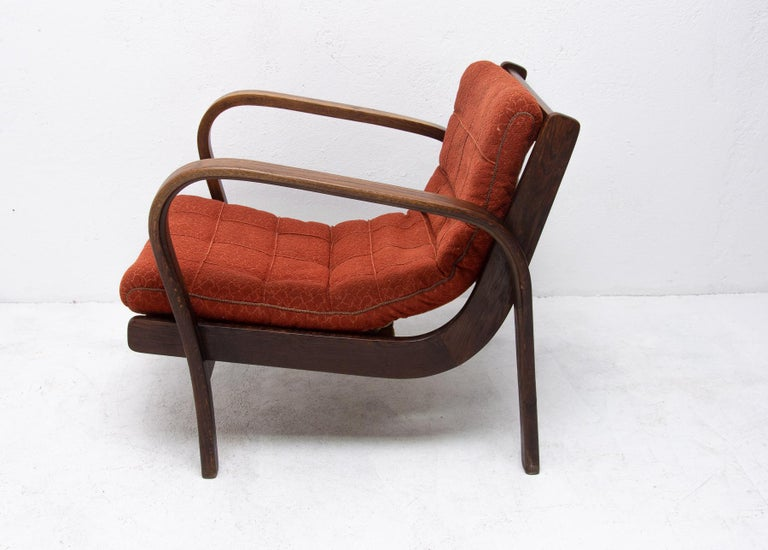 Midcentury Armchairs by Kropacek and Kozelka for Interier Praha 1944, Set of Two For Sale 6
