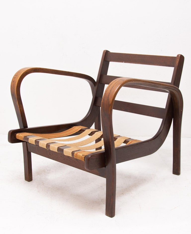 Midcentury Armchairs by Kropacek and Kozelka for Interier Praha 1944, Set of Two For Sale 8
