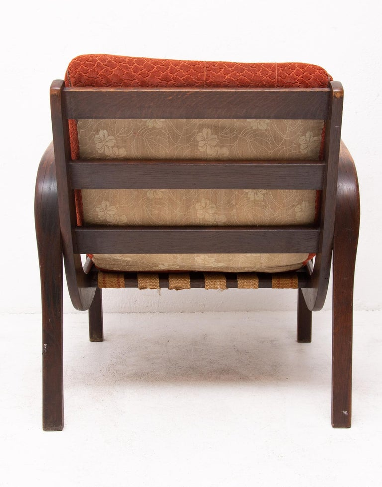 Midcentury Armchairs by Kropacek and Kozelka for Interier Praha 1944, Set of Two In Good Condition For Sale In Prague 8, CZ
