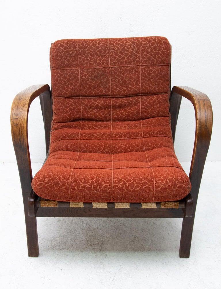 Mid-20th Century Midcentury Armchairs by Kropacek and Kozelka for Interier Praha 1944, Set of Two For Sale