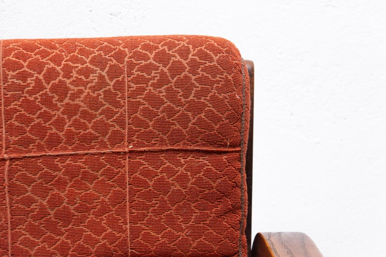 Fabric Midcentury Armchairs by Kropacek and Kozelka for Interier Praha 1944, Set of Two For Sale