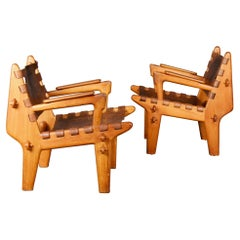 Midcentury Armchairs from Ecuador by Angel Pazmino, 1960s, Set of two
