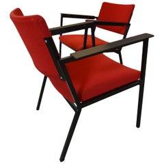Midcentury Armchairs in the Style of Gijs van der Sluis