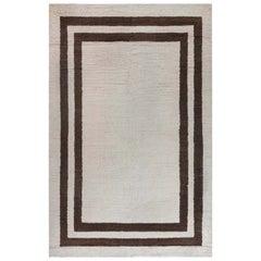Midcentury Art Deco Handwoven Wool Rug