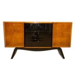 Midcentury ART DECO Sideboard, Chest of Drawers, Bohemia, 1940´s