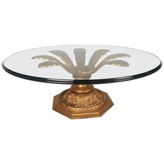 Midcentury Arthur Court Style Gilt Metal Flow Coffee Table