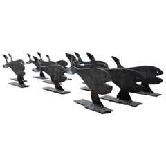 Midcentury Artist Made Blacksmith Fish Sculptures