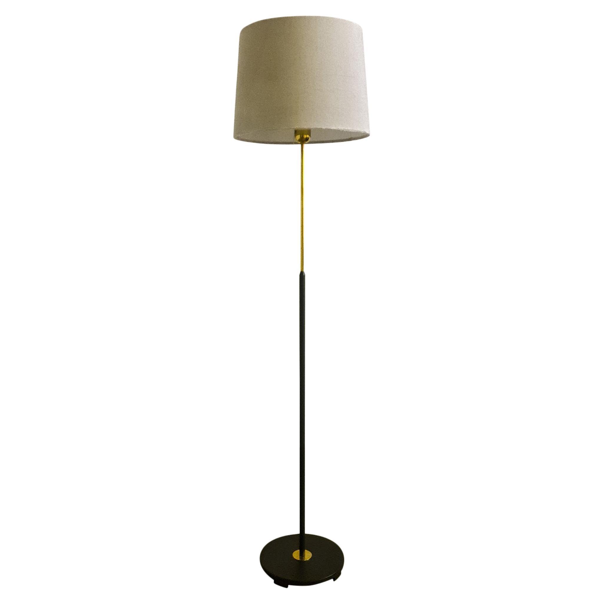 Midcentury ASEA Brass Floor Lamp, Sweden, 1960s