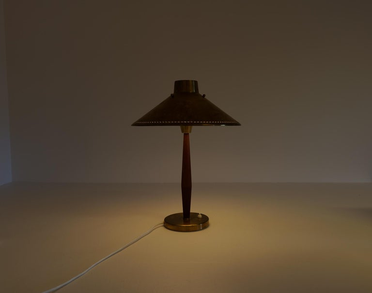Midcentury ASEA Table Lamp Hans Bergström, Sweden, 1940 For Sale 11