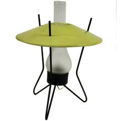 Midcentury Atomic Tripod Table Lamp, 1950s