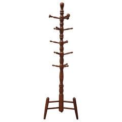 Midcentury Austrian Carved Wood Coat Tree