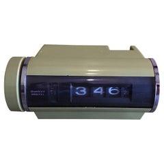 Midcentury Avocado Green Digital Alarm Clock by Sankyo