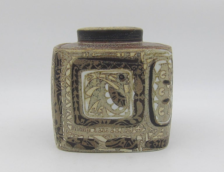Midcentury BACA Faience Humidor Jar by Nils Thorsson for Royal Copenhagen For Sale 7