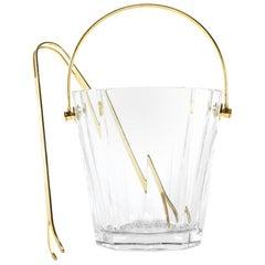 Midcentury Baccarat Crystal Barware / Tableware Ice Bucket