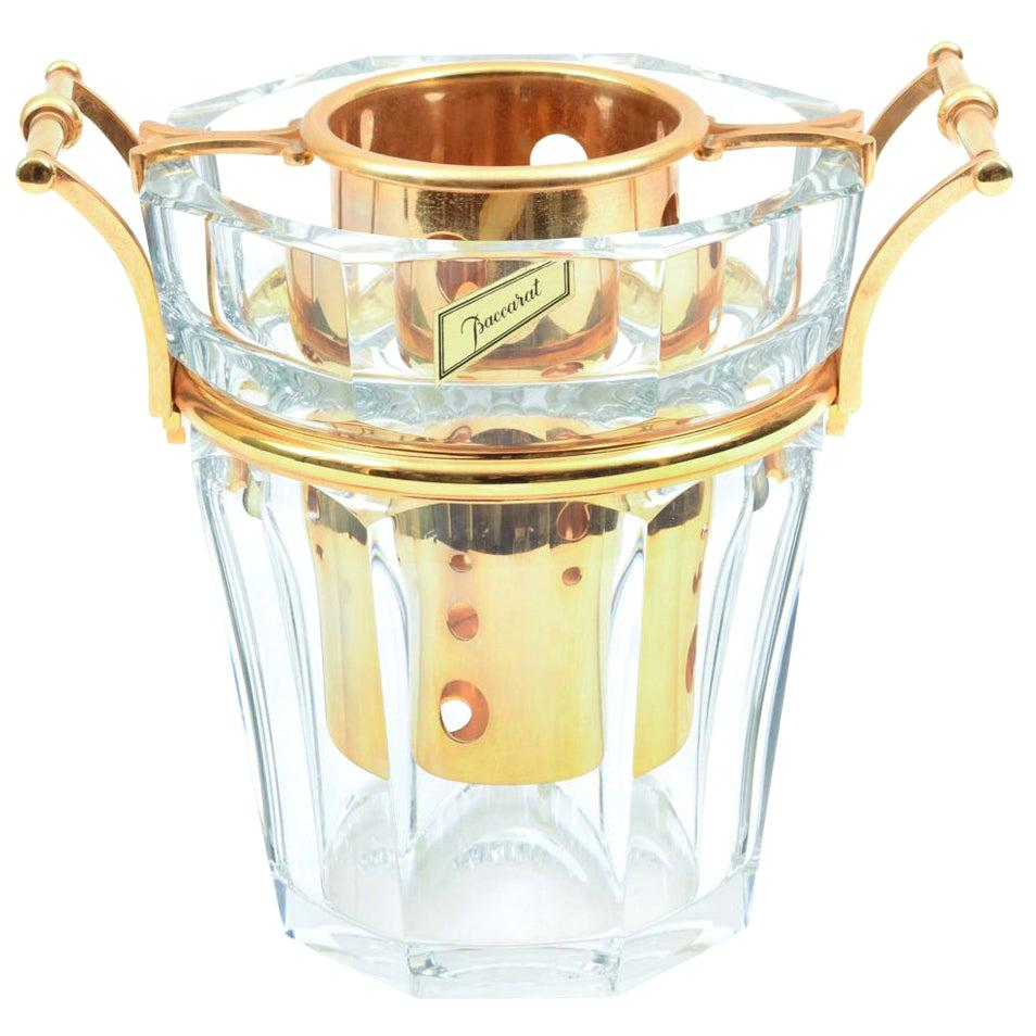 Midcentury Baccarat Crystal Champagne / Wine Cooler Bucket