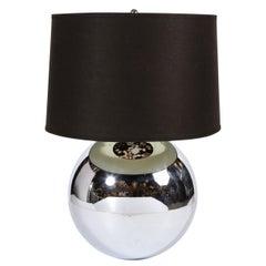 "Midcentury ""Ball"" Table Lamp in Chrome Documented by Karl Springer"