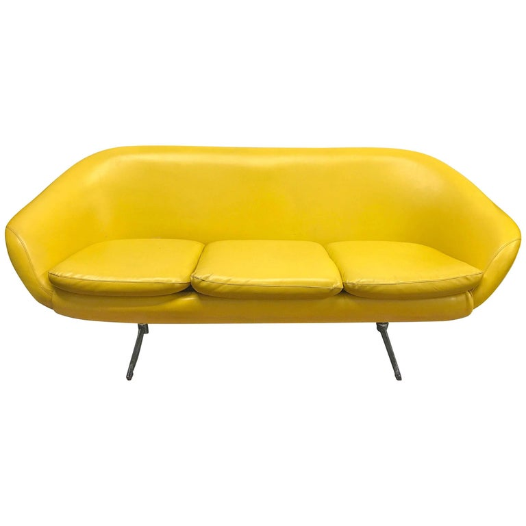 sofa couch for sale sleeper sofa midcentury banana yellow vinyl sofa couch for sale at 1stdibs