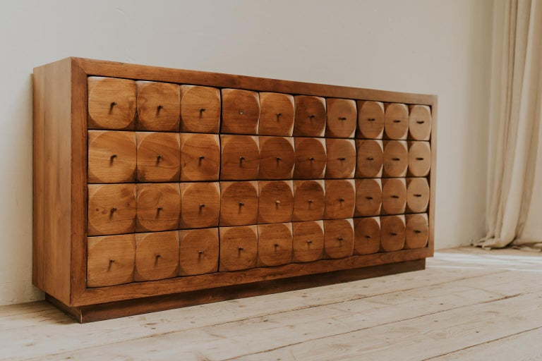 A stunning midcentury design enfilade/bank of drawers, found in Belgium, in very good condition, ready to shine in your interior...