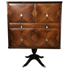 Midcentury Bar Cabinet in Wood Attributed to Paolo Buffa, Italian Design, 1950s