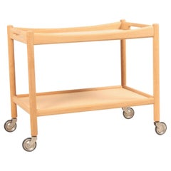 Midcentury Bar Cart in Oak Designed by Hans Wegner, 1950s