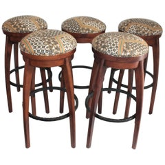 Midcentury Bar Stools / Set of Five