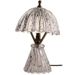 Midcentury Barovier Mushroom Glass Table Lamp