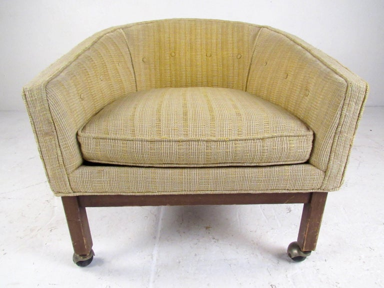 American Midcentury Barrel Back Club Chair For Sale