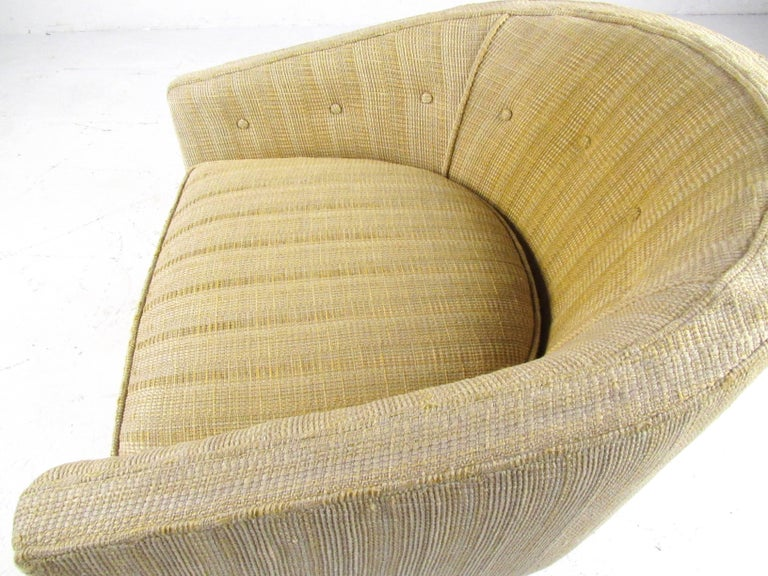 Midcentury Barrel Back Club Chair For Sale 1