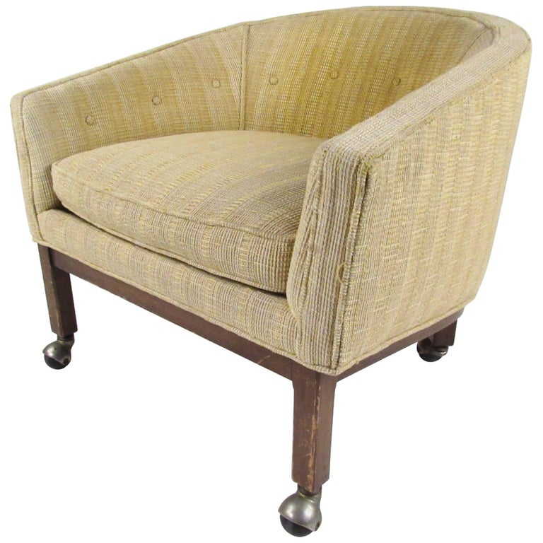 Midcentury Barrel Back Club Chair For Sale