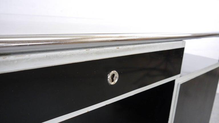 Midcentury Bauhaus Desk Tubular Steel Frame Industrial For Sale 9