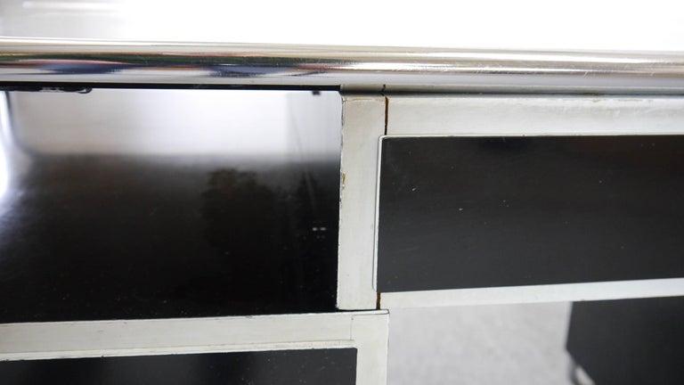 Midcentury Bauhaus Desk Tubular Steel Frame Industrial For Sale 3