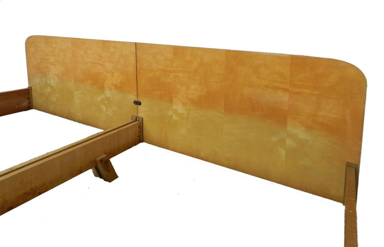 Mid-Century Modern Midcentury Bed US King UK Super King Size Extra Wide German, circa 1970 For Sale