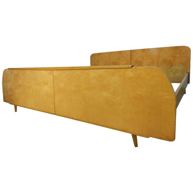 Midcentury Bed US King UK Super King Size Extra Wide German, circa 1970 For Sale